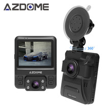 Azdome gs65h оригинальные мини Двойной объектив Видеорегистраторы для автомобилей 2.4 «НОВАТЭК 96655 автомобильный Камера 1920×1080 P Full HD регистраторы ночное видение g-сенсор