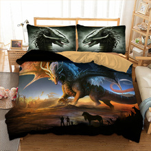 Wongs Bedding 3D Flying dragon set polyester Duvet Cover Bed Set Single Twin queen king size drop shipping