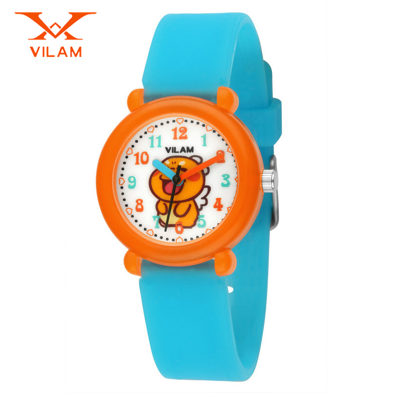 2016 New arrive kids cartoon watch silicone school student watches boys girls children watch gift wristwatch relogio Vl0201
