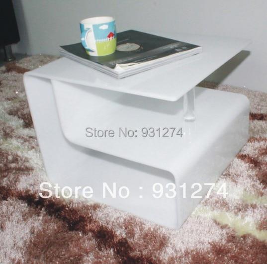 Table basse acrylique élégante moderne en gros et au détail meubles de maison Perspex Table d'appoint avec porte-revues livraison gratuite