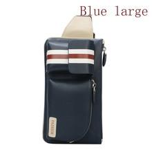 2017 Men's leather-based purse trend road informal leather-based chest pack shoulder bag messenger baggage males's denims cell pockets