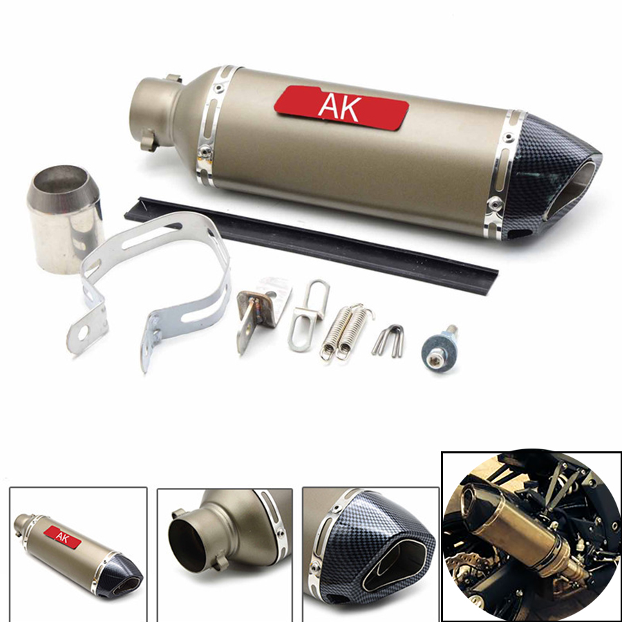 Motorcycle parts Exhaust Universal 51mm Stainless Steel Motorbike Exhaust Pipe For HONDA CBR600RR CBR 600 RR PCX 125/150 R1 for modified exhaust motorcycle silencer exhaust pipe fiber stainless steel universal 36 51mm for suzuki hayabusa gsxr1300 gsxr7