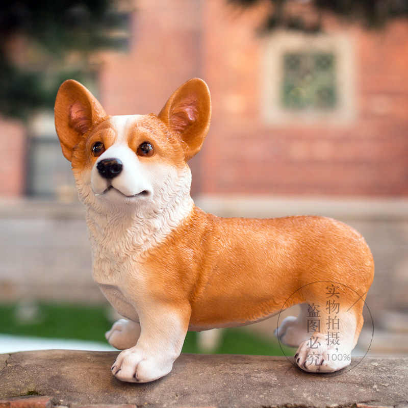 Modern Home Decoration Dog Lucky Animal Welsh Corgi Resin Crafts Wedding Decoration Ornaments Accessory Corgi Dog Resin Figurine