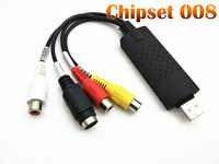 Neues update Chipset 008 ersetzen UTV 007 USB 2.0 Video Capture Grabber Karte adapter TV DVD VHS Audio Capture für win 7 8 10 OS