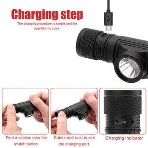 Image 3 - BORUiT D10 XM L2 LED Mạnh 3000LM Chống Nước Đèn Pha Sạc USB 18650 Đầu Đèn Pin Dùng Cho Cắm Trại, Đi Xe Đạp