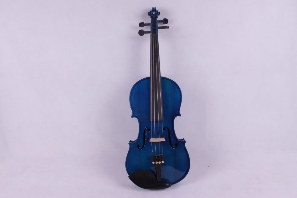 4 -String 4/4 New Electric Acoustic Violin blue color #1-2542# 4 4 new 5 string electric acoustic violin solid wood nice sound red color 6 11