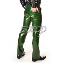 rubber latex jeans trousers