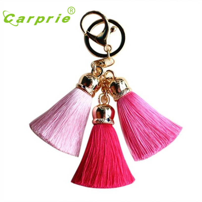 Dropship Hot Selling Ice Silk Tassel Pompom Car Keychain Handbag Key Ring Gift Jul 20