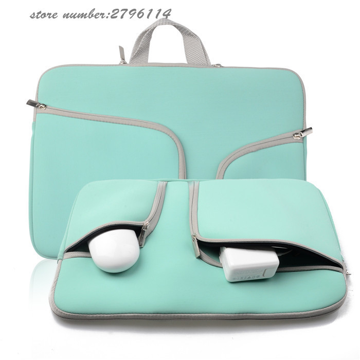 High Quality women and men blue rose red black Sleeve Bag Cover Case for ALL Laptop 11 13 15 bag For Macbook Air