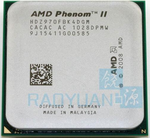 AMD Phenom II X4 970 X4-970 Black Edition 3.5Ghz HDZ970FBK4DGM 125W Desktop CPU Socket AM3