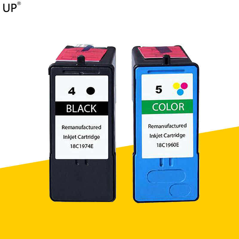 2 Pack remanufactured Ink Cartridge untuk lexmark 4 lexmark 5 untuk Lexmark X5690 X4690 X2690 X3690 X6690 Z2390 X2490 printer