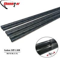 SUNMILE 2Set 1.98M 2Section UL/L/ML/M/MH 24T Fast Action Carbon Fishing Rod Blank DIY Pole Repair Olta Carbon Fiber Rod Pesca