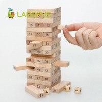 Lagopus Alta Qualità Torre di Legno Domino Giocattolo Di Puzzle 5 pz Stacker Estratto di Costruzione di Giocattoli Educativi Per Bambini
