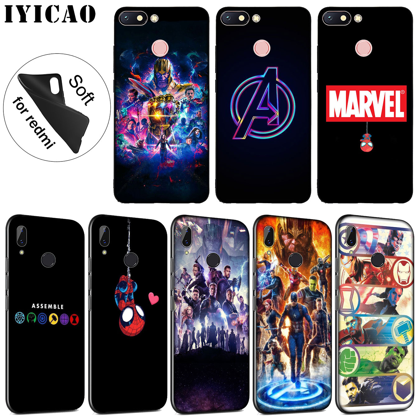 Avengers Endgame Marvel Spider Iron Man Thanos Soft Phone Case 1