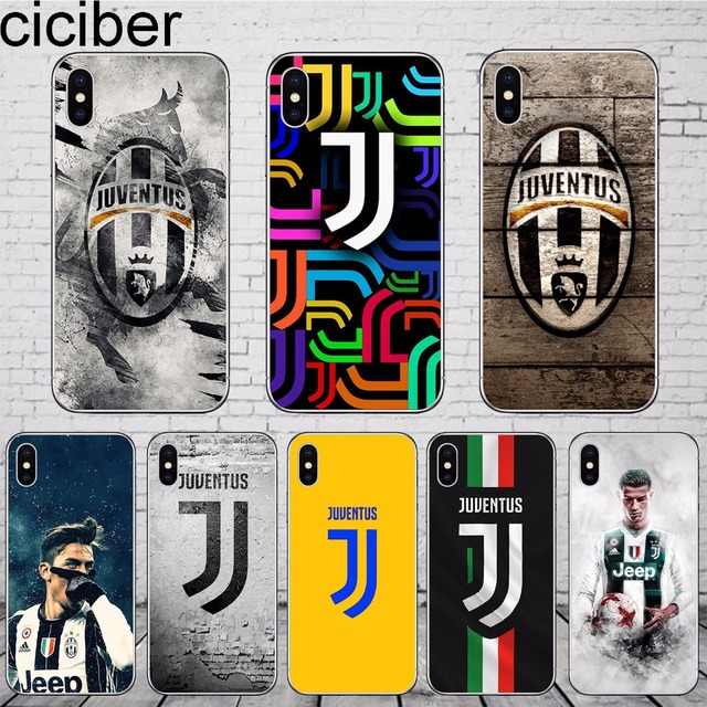 official photos d53a1 8bc73 US $1.92 45% OFF|ciciber Juventus Football Logo Cristiano Ronaldo Phone  Case Cover For Apple iPhone 7 X 7Plus 8 6 6S Plus 5 5S SE Soft Silicone-in  ...