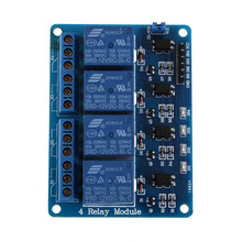 Professional PLC Relays 12V 4-Channel Relay Module With Optocoupler For Arduino DSP AVR PLC ARM Electronic Accessories