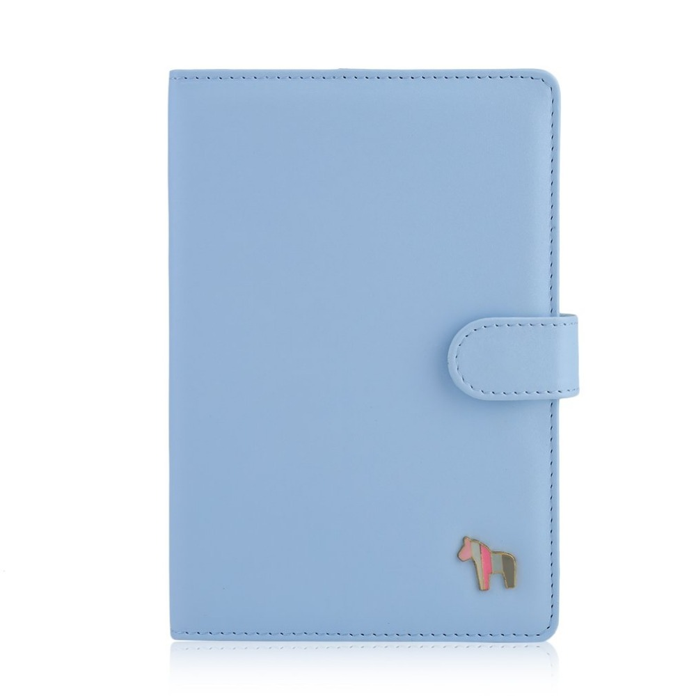 A5 Faux Leather Hardcover Diary Notebook 116 sheets Cute Horse Softcopy Note Book Office School Supplies Birthday Gift For Girls