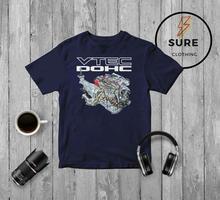 Camiseta masculina motor vtec, camiseta de corrida sólida de alta qualidade para o verão camisas