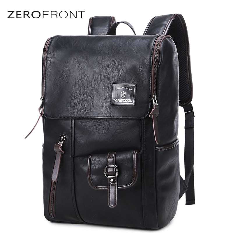 Fashion PU leather men backpack new's Large Capacity man's backpack large capacity men travel bag duffel bag 15inch laptop bags business 15inch laptop backpack men large capacity computer backpackes office women quality waterproof travel bag school bags 45