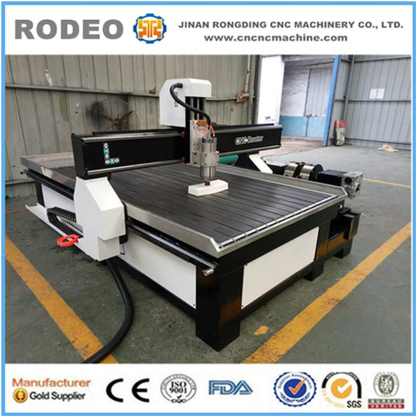 New Type Cnc Router With 3D Rotary Axis Wood Carving Furniture