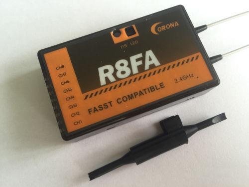 Corona R8FA FASST Compatível 2.4 Ghz 8Ch Receptor Para FUTABA 8FG Transmissor 7C