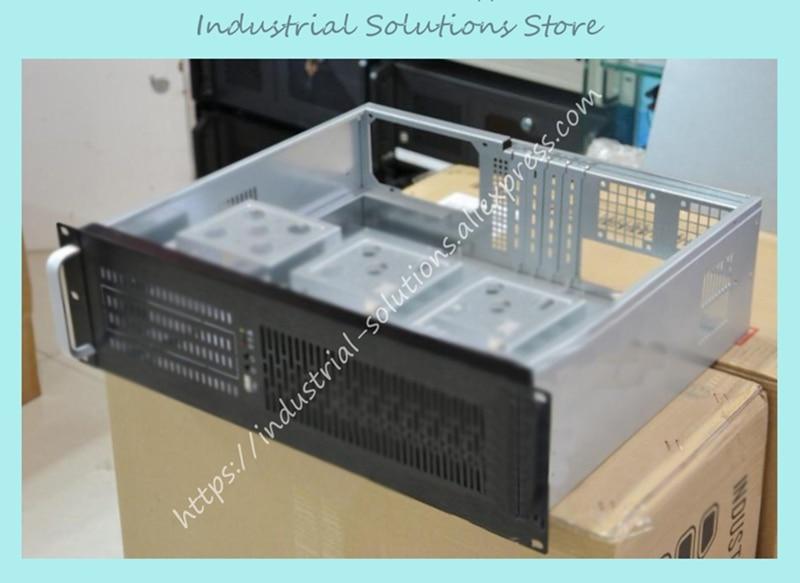 Ultra-short 3u computer case 3u industrial computer case server computer case monitor computer case aluminum panel 7 hard drive недорого