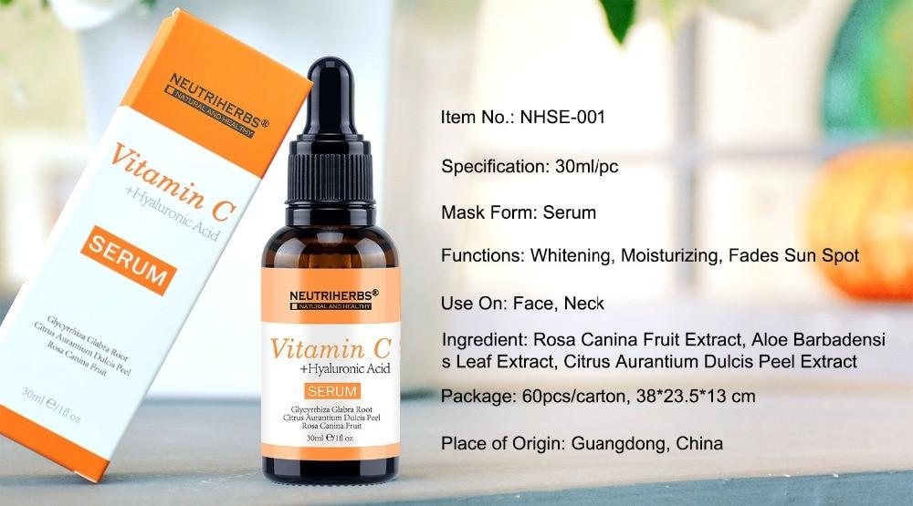 Vitamin C Serum-Spcification