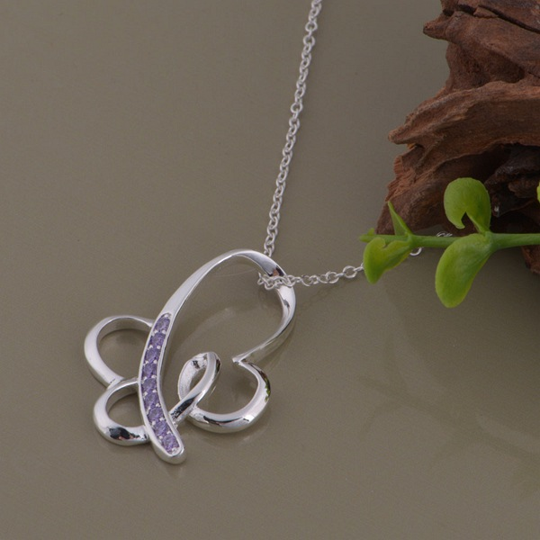 wholesale High quality silver Fashion jewelry chains necklace pendant WN-1293