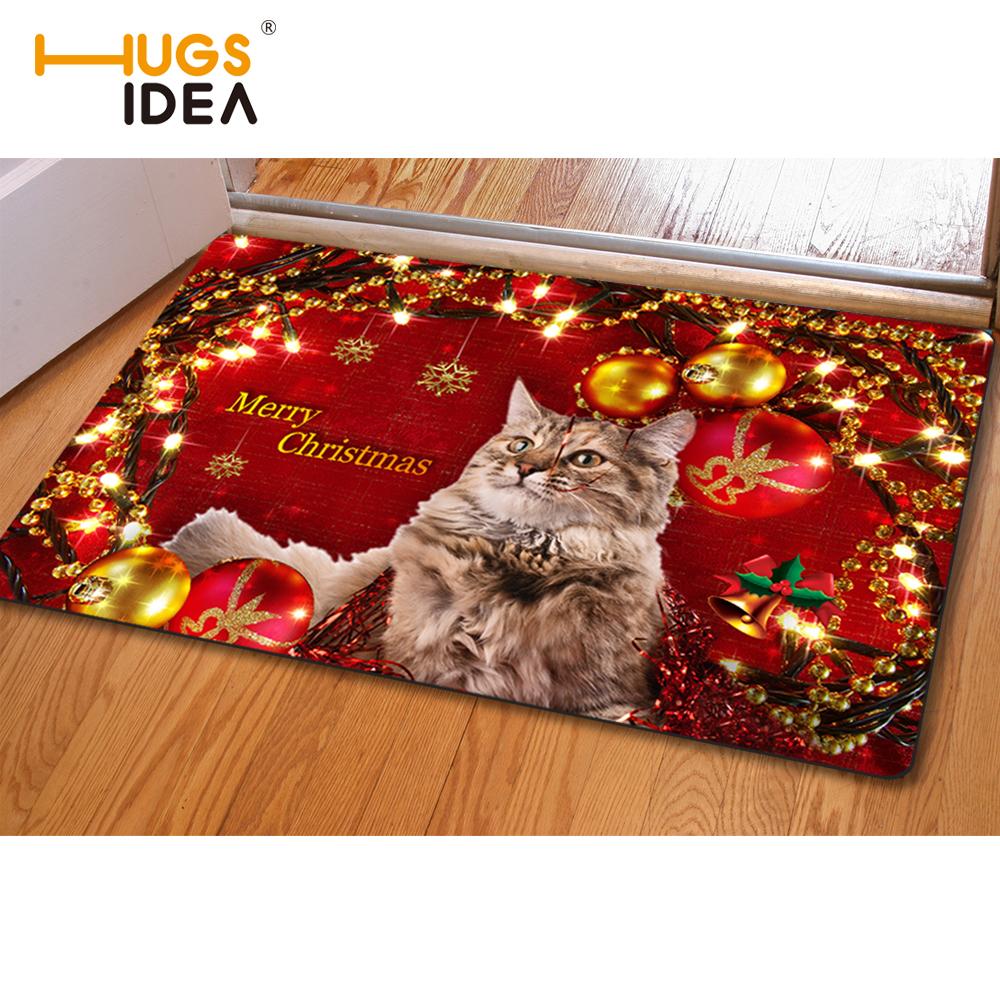 Frohe Weihnachten Worte Haustrmatte Eingang Fussmatte Festival Home Dekoration Tapetes Fr Wohnzimmer Footcloth Bett Zimmer Teppich