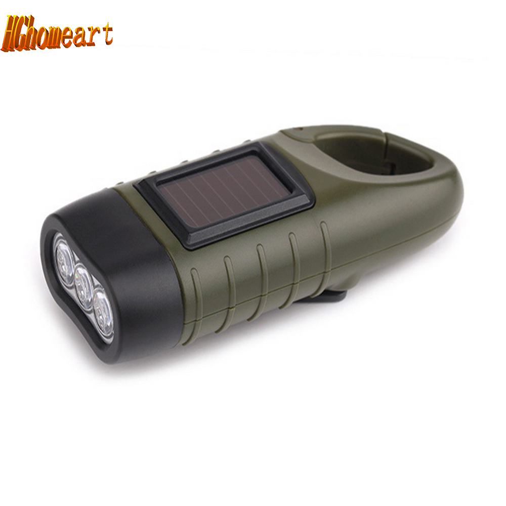 Top Hand Crank Solar High Ed Flashlight Rechargable Flashlights Torches Outdoor Lighting Waterproof Led Lamp