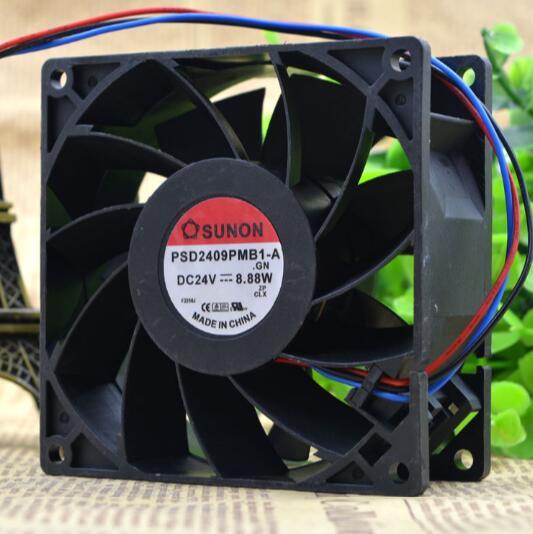 SUNON PSD2409PMB1-A 24V 8.88W 9225 9cm three-wire converter fan