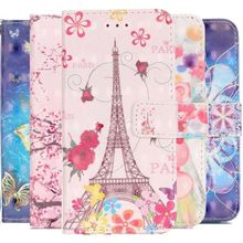 Wallet Flip Case For apple iPhone 8 7 6 6S Plus 5 5S SE Deer Butterfly Chimes Tower Card Slot Phone Cover Leather Capa Case P03Z ikki eiffel tower style flip open pu case w stand card slot for iphone 5s 5 multi colored