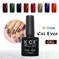 1 unids Ojo de Gato Esmalte de Uñas de Gel UV LED esmalte de Uñas de Gel empapa de Pulimento Del Gel 36 colores de Laca Gel Bluesky Efecto
