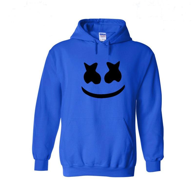 Marshmello Smiley Face Con Cappuccio Da Uomo Hip Hop Moda Streetwear Felpe  Con Cappuccio Bianco XS XL Hoodied Tops Uomo Vestiti di Marca in Marshmello  ... 1e7570ac055
