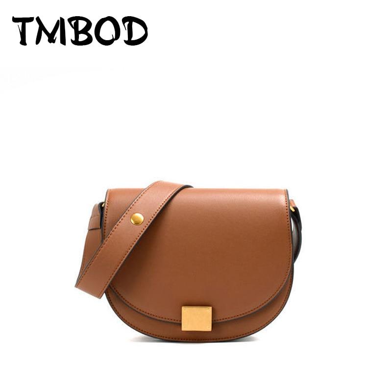 NEW 2019 Classic Designer Simple Retro Saddles Chic Crossbody Women Split Leather Handbags For Female Lady Messenger Bags an1014