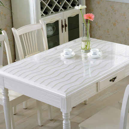 Pvc Waterproof Anti Hot Tablecloth Soft Gl Transpa Table Cover Plastic Mats Dining Kitchen Home Decor Zm193