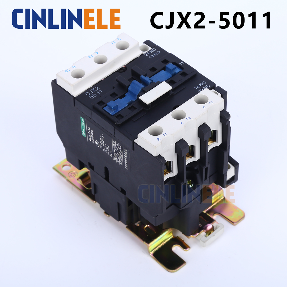 Contactor CJX2-5011 50A switches LC1 AC contactor voltage 380V 220V 110V Use with float switch contactor cjx2 6511 40a switches lc1 ac contactor voltage 380v 220v 110v use with float switch