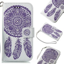 HYYGEDeal Phone Cases Glitter Girls Bling Mandala Flower Wallet ID Card Holder Leather for Samsung Galaxy