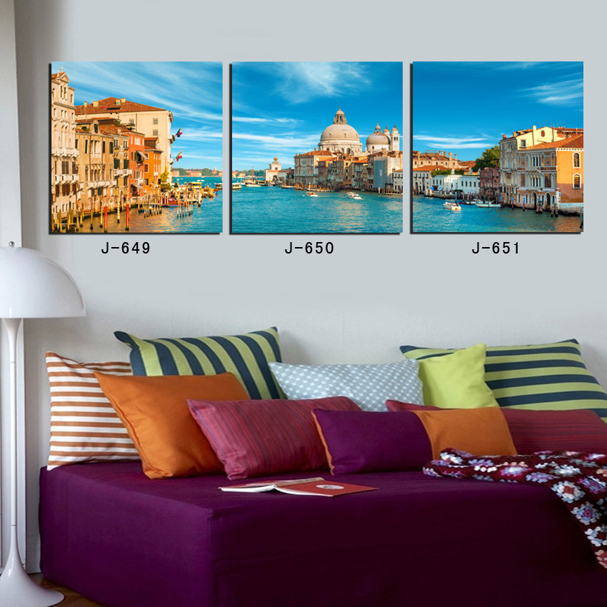 Paris building 3 piece canvas wall buda abstract oil painting gta 5 paint posters london world map regata art no frame