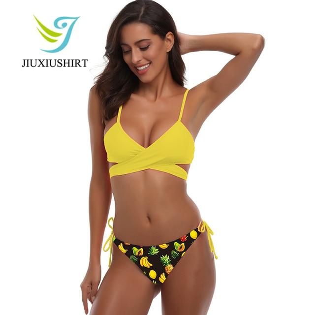 57a1aeb0036 2018 Women Floral Bikini Set Sexy Beach Wear Swimwear Maillot de bain Push  Up Bikini Swimsuit
