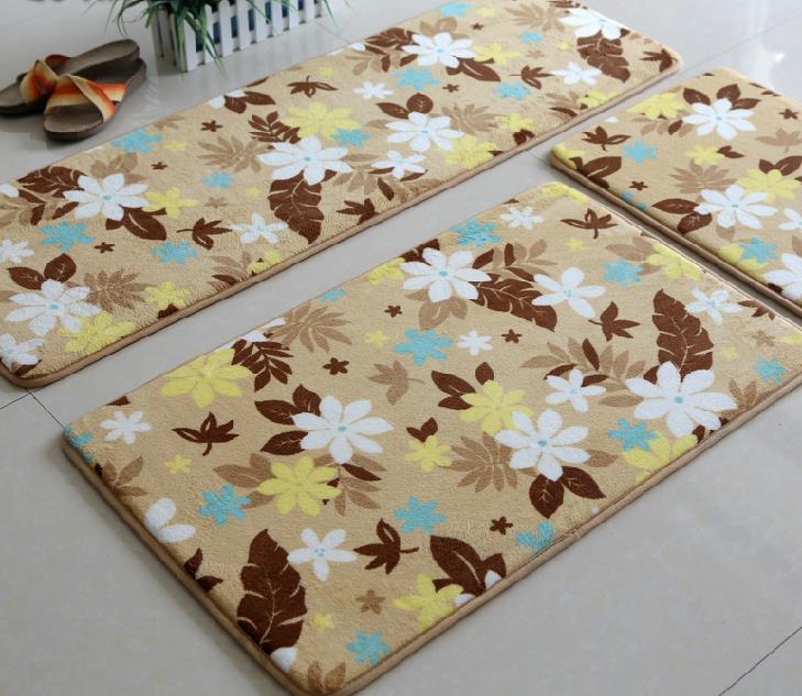 3pcs Lot Anti Slip Kitchen Mat Set Vintage Living Room Carpet Entrance Doormat Tapis