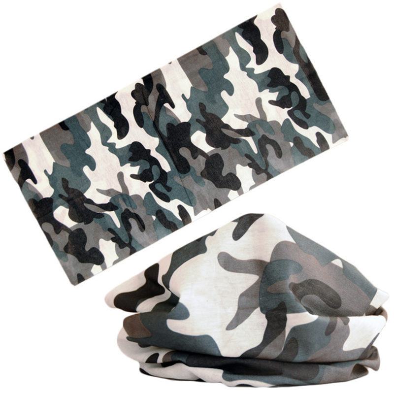 Multi Wear Scarf Women Men Tube Shape Polyester Military Outdoor Camouflage Neck Warmer Face Mask Scarves Sports Accessories