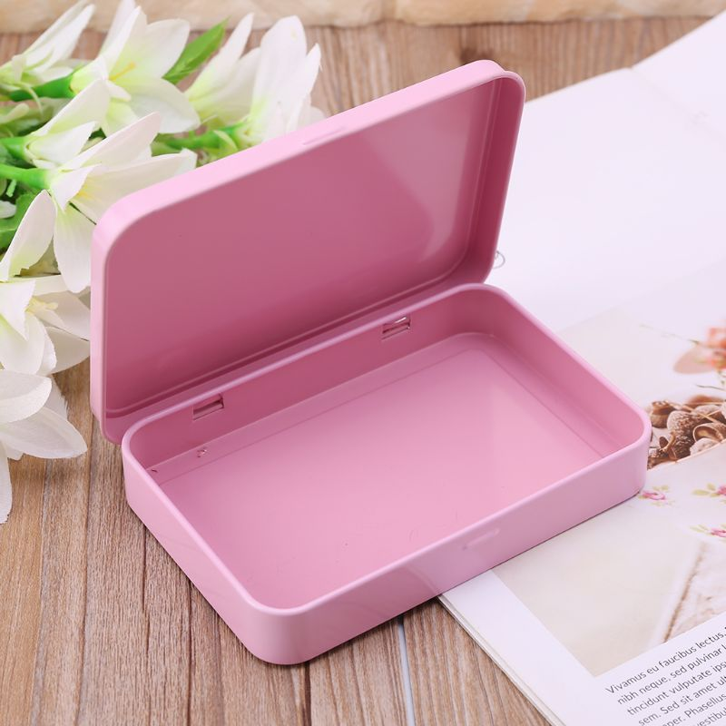 Case Small Storage-Box Pink Organizer Candy-Key Eye-Shadow Metal Portable For Currency-Money