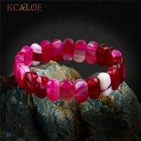 KCALOE Fashion Pink Onyx Natural Stone Bracelet Women S Bracelets Agat Charms Bracelets Bangles Wedding Yoga