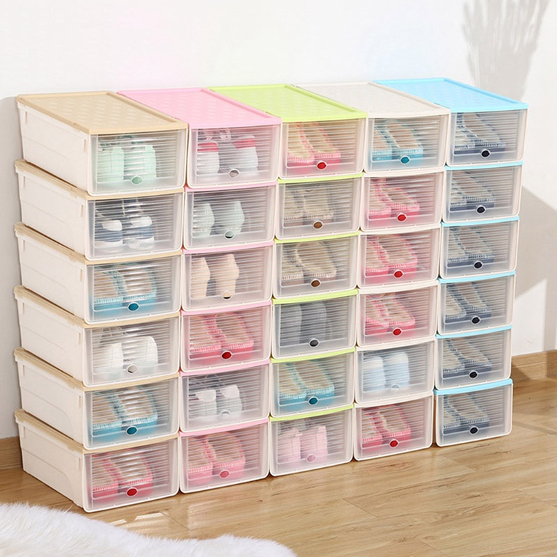 Cosmetic Organizer Jewelry Box Shoe Storage Box Case