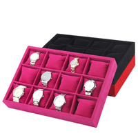 China Watch Jewelry Watch Accessories OEM Display Set Custom Wholesale 12 Grids Slots Display Collect Home