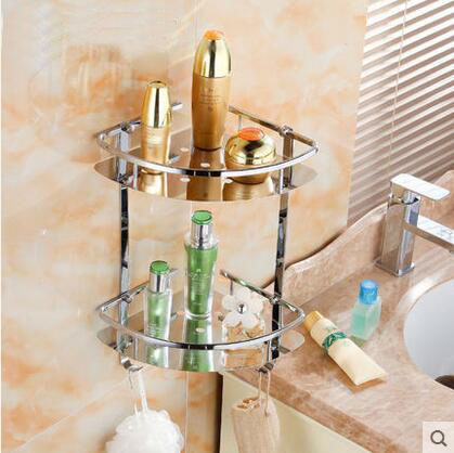 2 Types Stainless Steel Bathroom Shelves Racks Wall Mounted, 1/2 Tier  Bathroom Shelf Triangle Storage Rack Shelf, Free Shipping In Bathroom  Shelves From ...