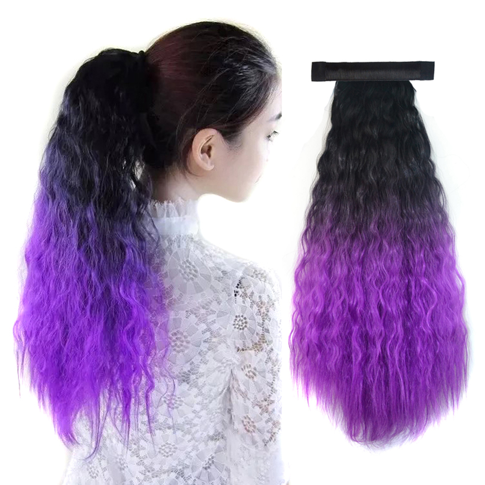 Pony Tail Hairpiece Colorful Hair Piece Synthetic Magic Ponytail
