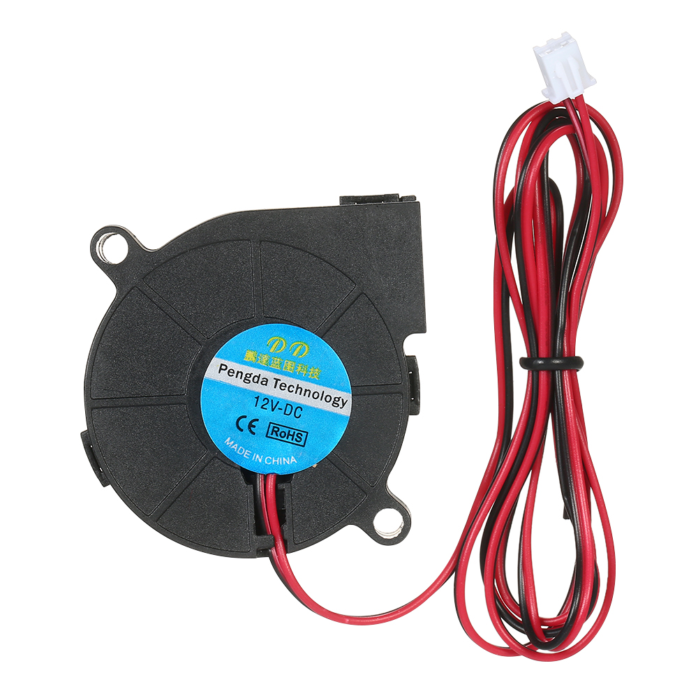 3pcs DC12V 5015 Cooling Blower 2-pin Exhaust Fan 50x50x15mm Centrifugal Fan for 3D Printer Humidifier Aromatherapy Appliances original delta 5015 centrifugal fan blower bub0512hb double ball bearing fan blower fan cooling fan
