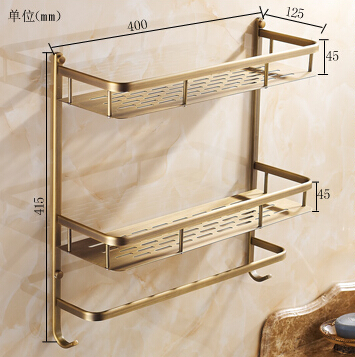ФОТО Bathroom antique shelf for shower bathroom storage holder  bathroom shelves